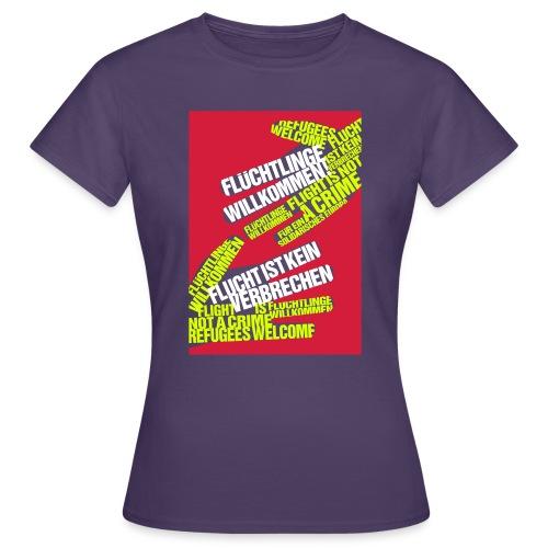 Flüchtlinge Willkommen r - Frauen T-Shirt