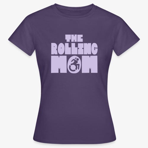 De rollende moeder in een rolstoel - Vrouwen T-shirt