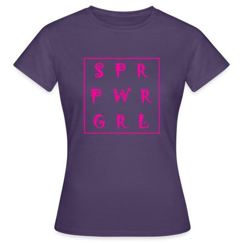 SUPER POWER GIRL - Frauen T-Shirt
