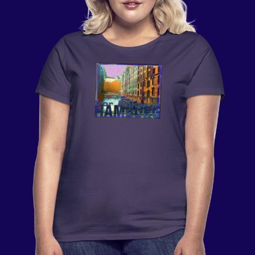 Vor Anker in Hamburg: Speicherstadt, künstlerisch - Frauen T-Shirt