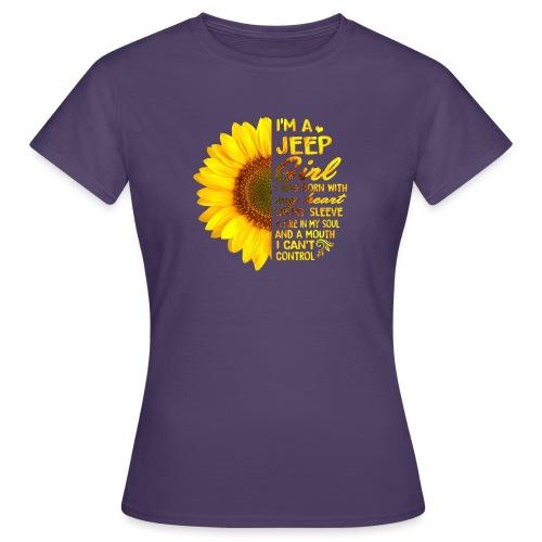 Sunflower Jeep Girl - Frauen T-Shirt