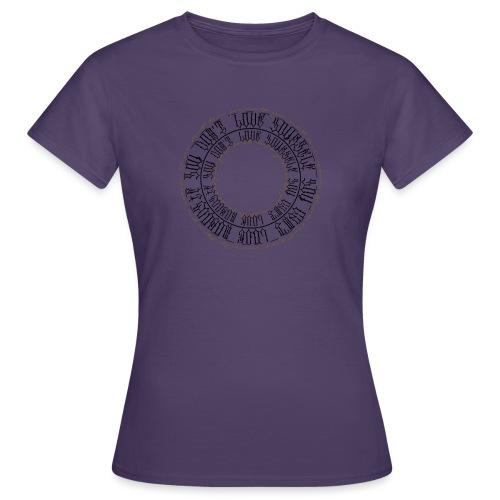 CALLIGRAPHY-CIRCLE - Maglietta da donna