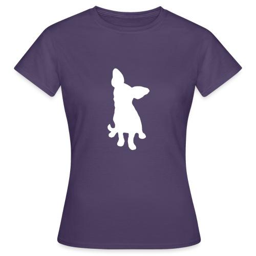 Chihuahua istuva valkoinen - Naisten t-paita