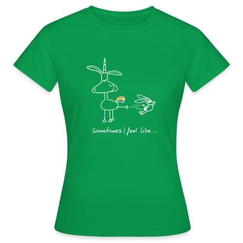 Dru - sometimes I feel like... (weisse Outline) - Frauen T-Shirt