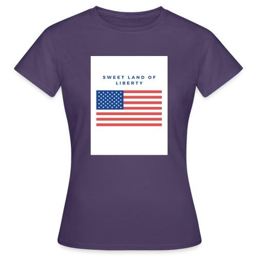 drapeau usa - T-shirt Femme