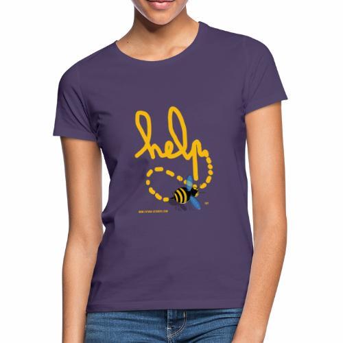 Help abeille texte jaune - T-shirt Femme