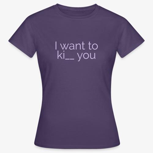 Kiss / Kill - T-skjorte for kvinner