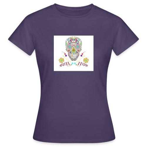 Bunter Totenkopf - Frauen T-Shirt