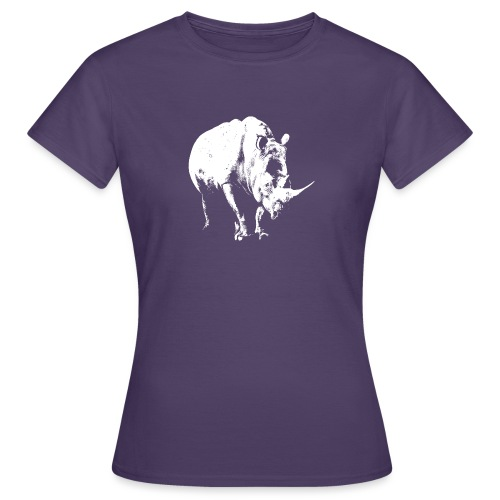 White Rhinoceros (highlights only) - Women's T-Shirt