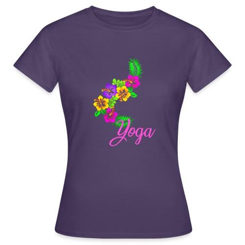 Exotisches Blumen Yoga - Frauen T-Shirt