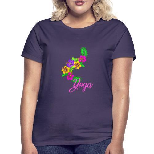 exotic flower yoga - Women's T-Shirt