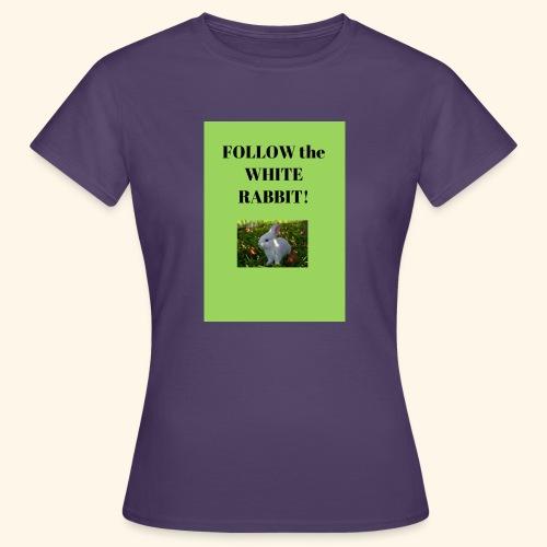 Follow the white rabbit Foto - Frauen T-Shirt