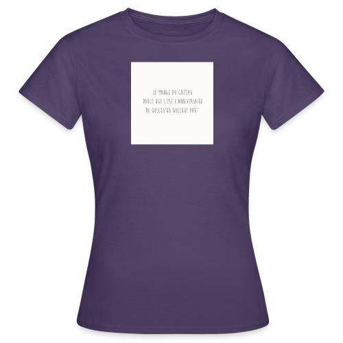 Gateaux - T-shirt Femme