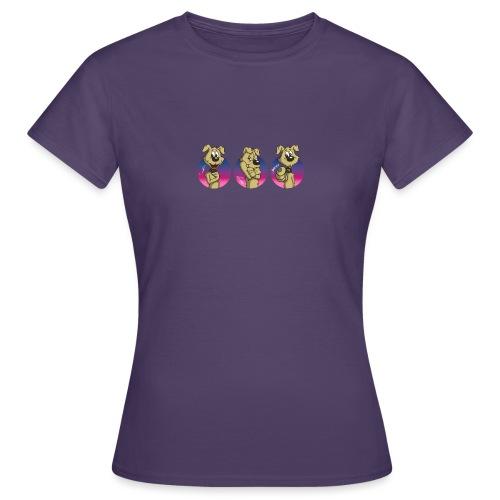 "Comic Hund in Gebärdensprache ""I love you"" - Frauen T-Shirt"