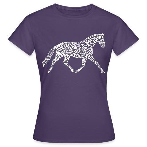 Körpertraining Logo weiß - Frauen T-Shirt