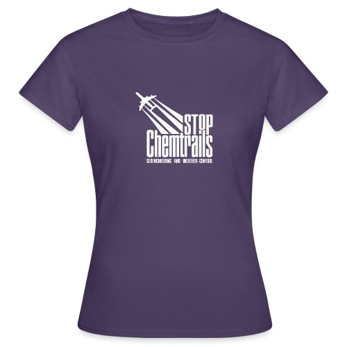 STOP CHEMTRAILS - white print - Vrouwen T-shirt
