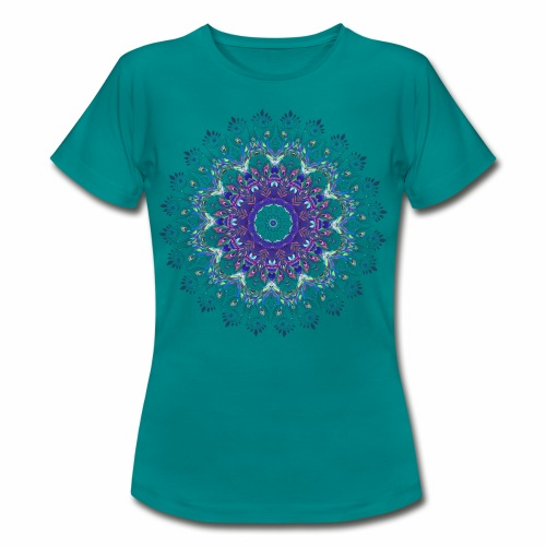 Mørk lilla mandala - Dame-T-shirt