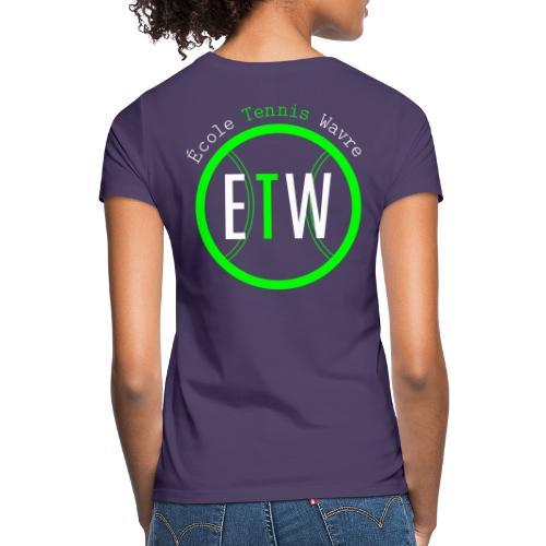 logo rond tennis vert - T-shirt Femme