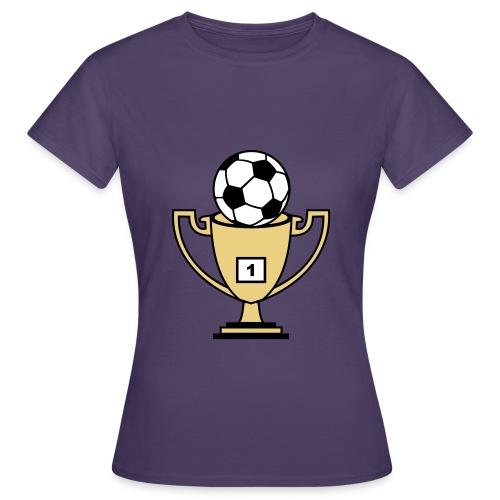 Pokal mit Fussball - Frauen T-Shirt
