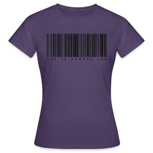 eno is number one -viivakoodi - Naisten t-paita
