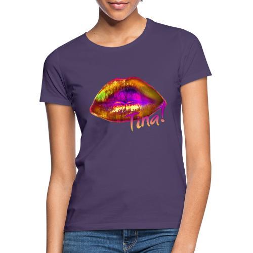 Gelbe Lippen sollst Du küssen! - Frauen T-Shirt