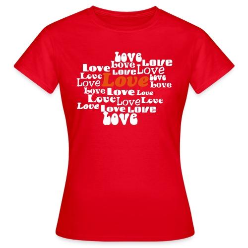 love - Vrouwen T-shirt