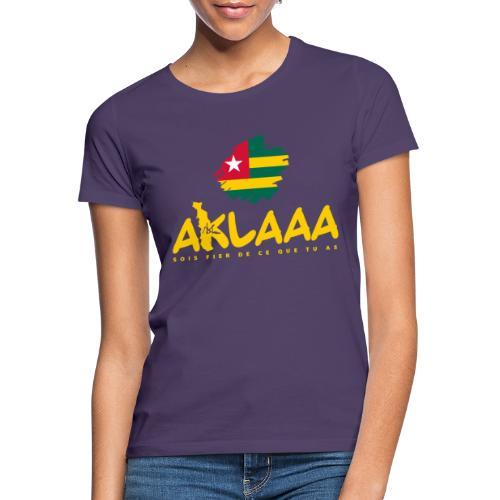 Aklaaa - Togo - Jaune - T-shirt Femme