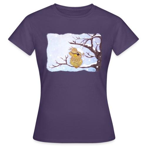 Kauz im Schnee - Frauen T-Shirt