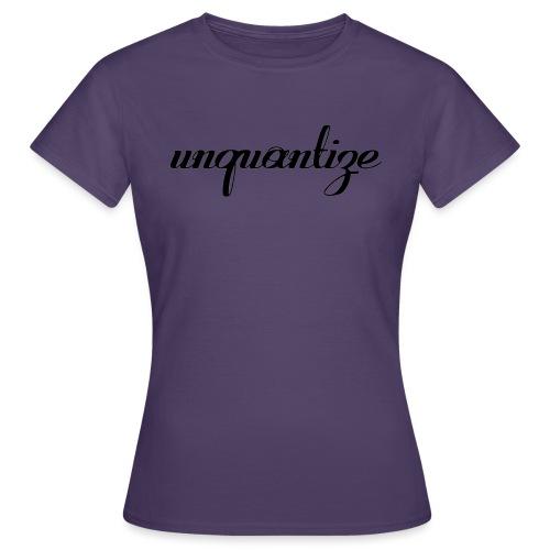 unquantize black logo - Women's T-Shirt
