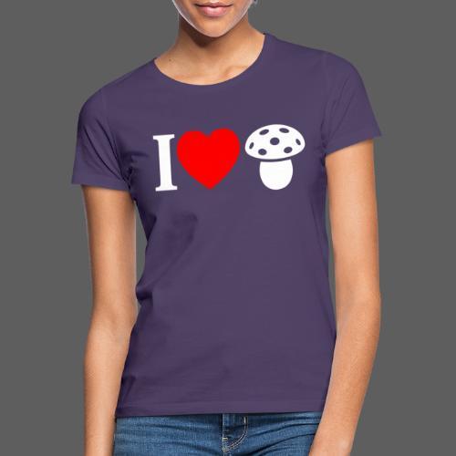 I LOVE FUNGO tema scuro muscaria - Maglietta da donna
