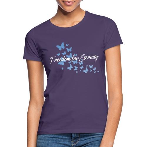shirt blau text weiss - Frauen T-Shirt