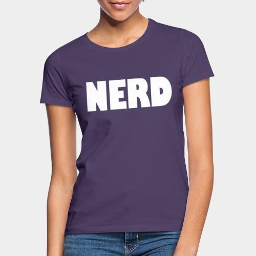 NERD Text Logo White - Women's T-Shirt