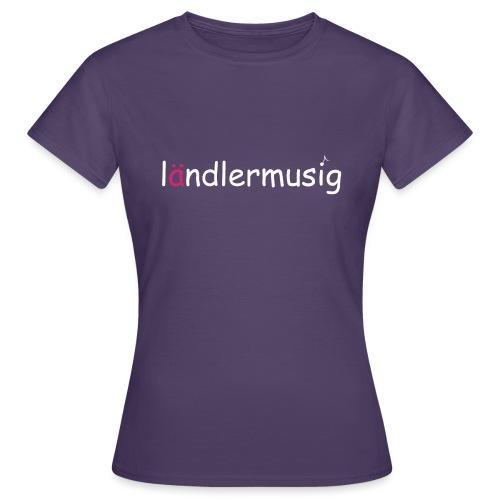 ländlermusig weiss/pink - Frauen T-Shirt
