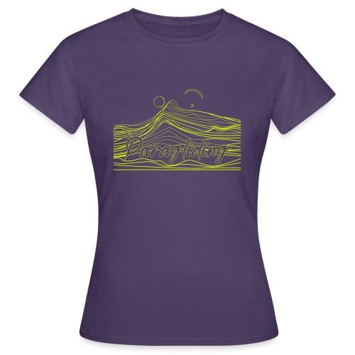 Paragling Lineart Gleitschirn - Frauen T-Shirt