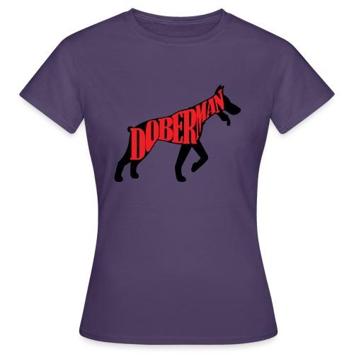 Doberman Superhero - T-shirt Femme