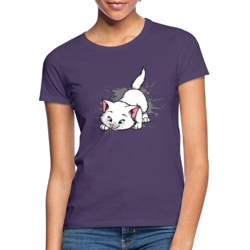 Katze Splash Pfützen Sprung - Frauen T-Shirt