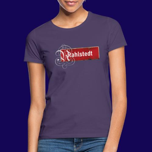 (Hamburg-) Rahlstedt Ortsschild + pompöses Initial - Frauen T-Shirt