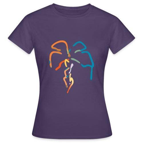 Farverig palme - Dame-T-shirt