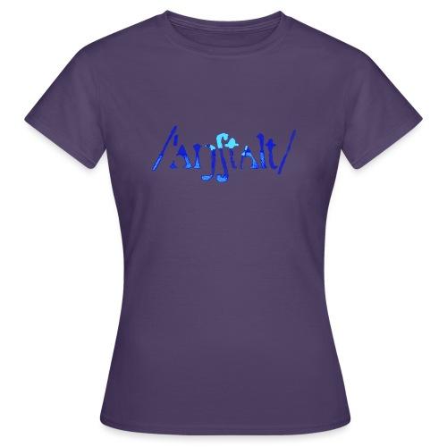 /'angstalt/ logo gerastert (blau/transparent) - Frauen T-Shirt