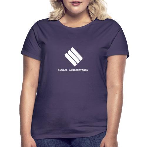 logo transparent hvid - Dame-T-shirt