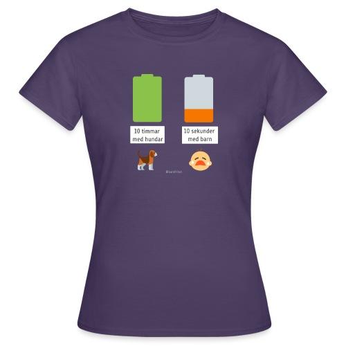 Livsbatteriet HUND - T-shirt dam