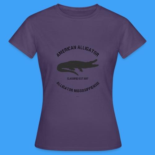 American Alligator black - Vrouwen T-shirt