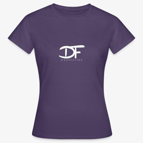 Dropfayter logo in WIT - Vrouwen T-shirt