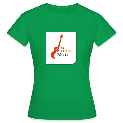 de oranje man logo groot op wit vlak - Vrouwen T-shirt