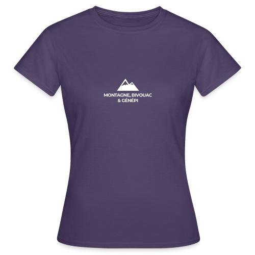 Montagne, bivouac et Génépi - T-shirt Femme