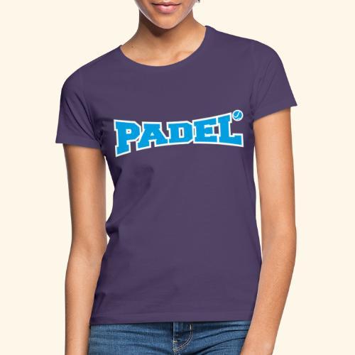padel azul y blanco - Camiseta mujer