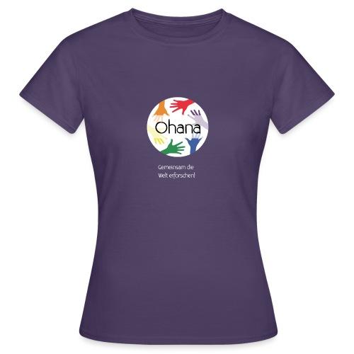Logo mit weißem Text - Frauen T-Shirt