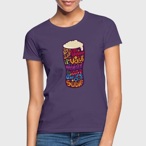 Bière pression typographies colorées - T-shirt Femme