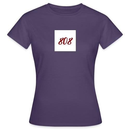 808 red on white box logo - Women's T-Shirt