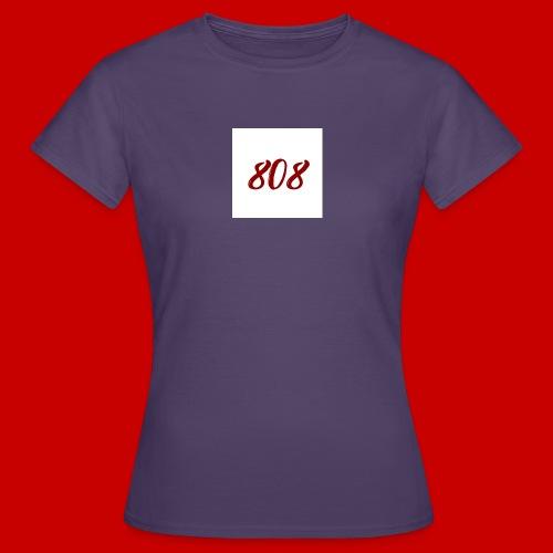 red on white 808 box logo - Women's T-Shirt